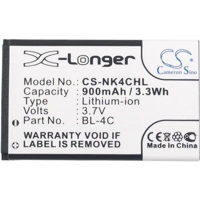 Батерия за телефон за  NOKIA BL-4C  2650, 6100, 7200  3,7V 900mAh  Cameron Sino