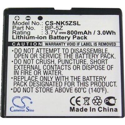 Батерия за телефон за NOKIA BP-5Z 700, Zeta N700 3.7V 800mAh CAMERON SINO - BP5Z