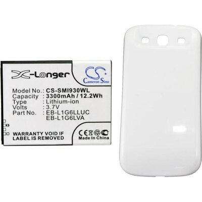 Батерия за телефон за Samsung GT-I9300, GT-I9308, SGH-T999V, Galaxy S3, Galaxy S III Extended Battery With White Color Back Cove