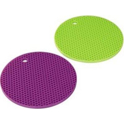 Силиконови подложки Xavax, 2 броя/зелена,виолетова/ -