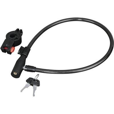 Заключващо устройство за велосипед HAMA 178109, 65 см, Черен - HAMA-178109