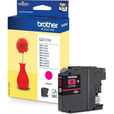Консуматив Brother LC-121 Magenta Ink Cartridge for MFC-J470DW/DCP-J552DW