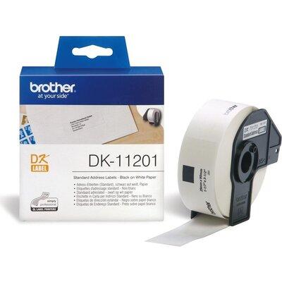Консуматив Brother DK-11201 Roll Standard Address Labels, 29mmx90mm, 400 labels per roll, Black on White