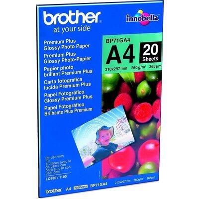 Хартия Brother BP71GA4 Premium Plus Glossy Photo Paper 20 Sheets