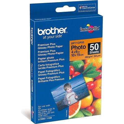 Хартия Brother BP71GP50 Premium Plus Glossy Photo Paper, A6 (4x6
