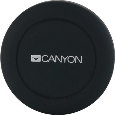 Canyon Car Holder for Smartphones,magnetic suction function ,with 2 plates(rectangle/circle), black ,44*44*40mm 0.035kg