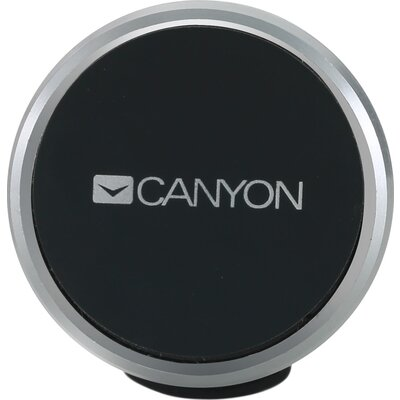Canyon Car Holder for Smartphones,magnetic suction function ,with 2 plates(rectangle/circle), black ,40*35*50mm 0.033kg