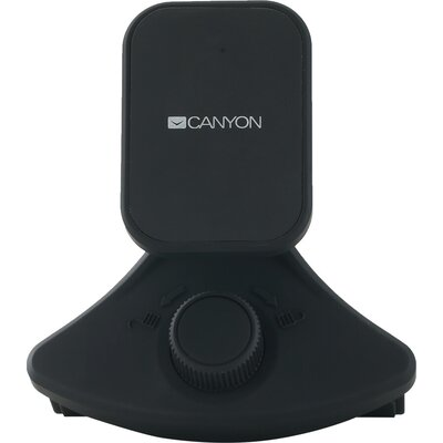 Canyon Car Holder for Smartphones,magnetic suction function ,with 2 plates(rectangle/circle), black ,91*84*48mm 0.070kg
