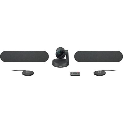 LOGITECH Rally Ultra-HD ConferenceCam - BLACK - USB - PLUGC - EMEA - DUAL SPEAKER EU