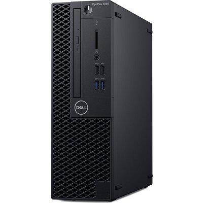 OptiPlex 3060 SFF, 200W, TPM, Core i3-8100 (4 Cores/ 6MB/ 3.6GHz), 4GB (1X4GB) 2666MHz, M.2 128GB SATA SSD, 8x DVD+/-RW 9.5mm, V
