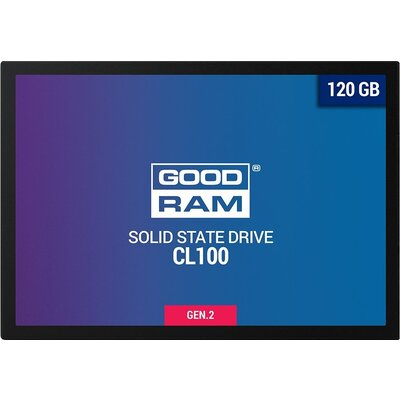 "GOODRAM CL100 GEN. 2 120GB SSD, 2.5"" 7mm, SATA 6 Gb/s, Read/Write: 485 / 380 MB/s"