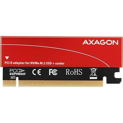 AXAGON PCEM2-S PCI-E 3.0 16x - M.2 SSD NVMe, up to 80mm SSD, low profile, cooler