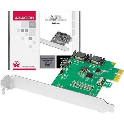 AXAGON PCES-SA2 PCIe Controller 2x Int. SATA III 6G ASMedia