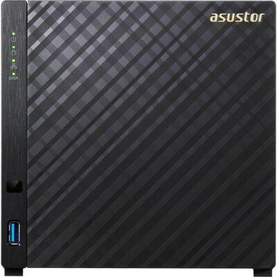 Мрежов сторидж Asustor AS1004T v2 4 bay NAS, New Marvell ARMADA-385 Dual Core, 512MB DDR3, GbE x1, USB 3.1 Gen-1, WOL, System Sl
