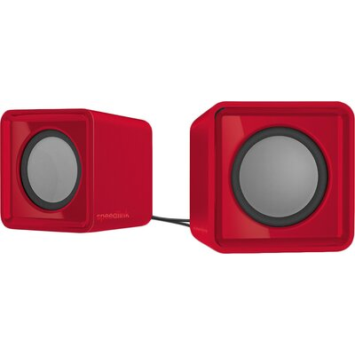 Speedlink TWOXO Stereo Speakers, 5W RMS (2 × 2,5W), 50 Hz – 20 kHz, USB-powered stereo speakers for any device with a 3.5mm audi