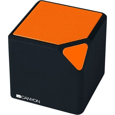 CANYON Portable Bluetooth V4.2+EDR stereo speaker with 3.5mm Aux, micro-USB port, bulit in 300mA battery, Black and Orange