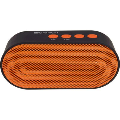 CANYON Portable Bluetooth V4.2+EDR stereo speaker with 3.5mm Aux, microSD card slot, USB / micro-USB port, bulit in 300mA batter