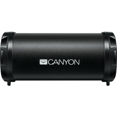 Canyon Bluetooth Speaker, BT V4.2, Jieli AC6905A, TF card support, 3.5mm AUX, micro-USB port, 1500mAh polymer battery, Black, ca