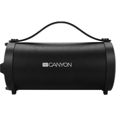 Canyon Bluetooth Speaker, BT V4.2, Jieli AC6905A, TF card support, 3.5mm AUX, micro-USB port, 1500mAh polymer battery, Black, ca
