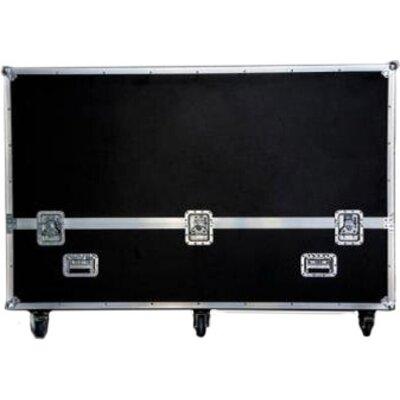 "Flight case for 65"" Presitigo MultiBoard. Black, shake-protected, fireproof cover, aluminum edges, 8 wrap angle corners, ca"