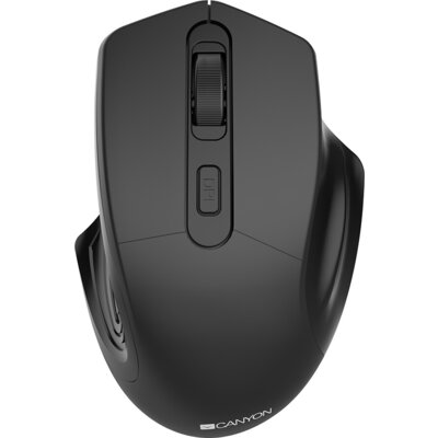 CANYON 2.4GHz Wireless Optical Mouse with 4 buttons, DPI 800/1200/1600, Black, 115*77*38mm, 0.064kg