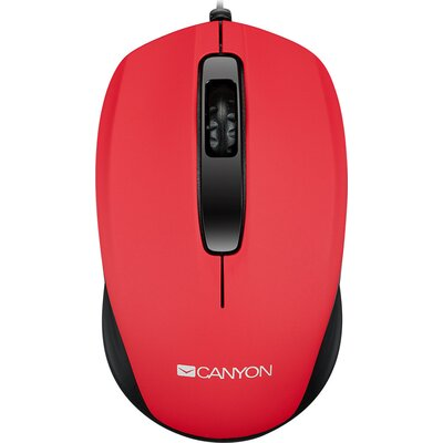 CANYON Optical wired mice, 3 buttons, DPI 1000, Red