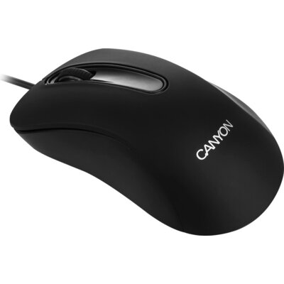 CANYON Wired Optical Mouse with 3 buttons, 1200 DPI optical technology for precise tracking, black, cable length 1.5m, 108*65*38