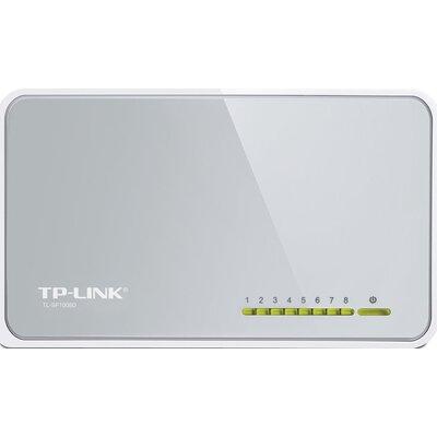 Switch TP-Link TL-SF1008D, 8-Port RJ45 10/100Mbps desktop switch, Fanless, LED indicator, Auto Negotiation/Auto MDI/MDIX, Plasti