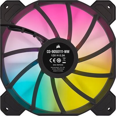 CORSAIR SP140 RGB ELITE 140mm RGB LED Fan with AirGuide Single Pack