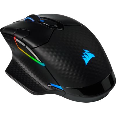Геймърска мишка Corsair Dark Core RGB Pro SE Wireless with SLIPSTREAM Technology, FPS/MOBA (8 програмируеми бутона, 3 профилa, R