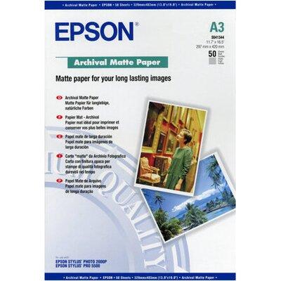 EPSON Matte archival paper inkjet 192g/m2 A3 50 sheets 1-pack