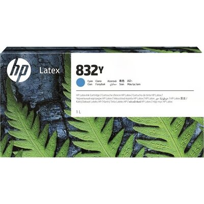 HP 832Y 1L Cyan Latex Ink Cartridge