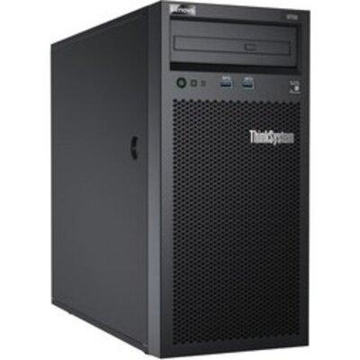 Сървър Lenovo ThinkSystem ST50, 1xIntel Xeon E-2124G 4+2C 3.4GHz 71W, 1x8GB 1Rx8, 2x1TB 7200, SW RD, 3 Year Warranty