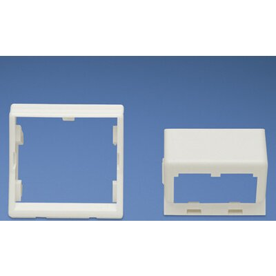 45 x 45mm adapter and one 1/2 size sloped module insert. Depth to rear of modules: 19mm