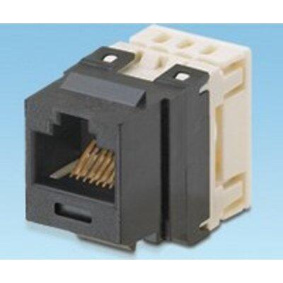 Cat 6 UTP NetKey™ universal keystone jack black, RoHS complaint