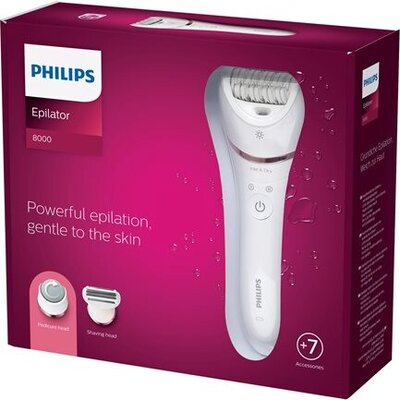 PHILIPS Epilator series 8000 wet&dry legs and body 7 attachments