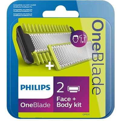 PHILIPS OneBlade replacement pack 1 blade for face 1 blade for body body comb 3mm