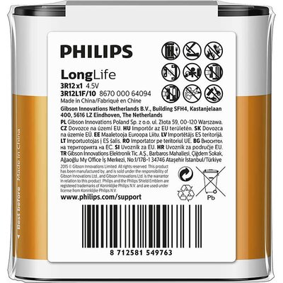 Philips Longlife батерия 4,5V 1-foil pack