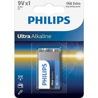 Philips Ultra Alkaline батерия 9V, 1-blister