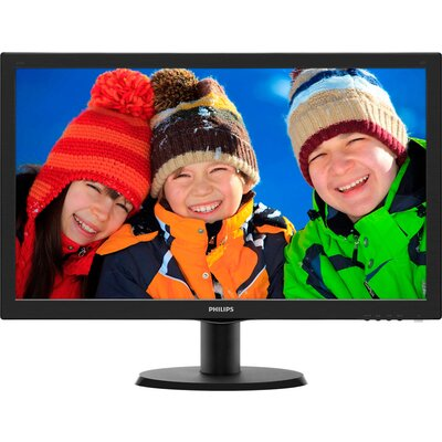 "Monitor Philips 23.6"" Slim LED 1920x1080 FullHD 16:9 5ms 250cd/m2 10 000 000:1 HDMI, VGA, DVI, Speakers, VESA, Piano Black,"