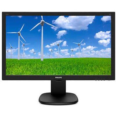 "Monitor Philips 23.6"" TN WLED, 1920x1080@60Hz, 170/160, 1 ms, 250 cd/m2, Speakers, VESA, Height adj., Pivot, VGA, DVI, HDMI"