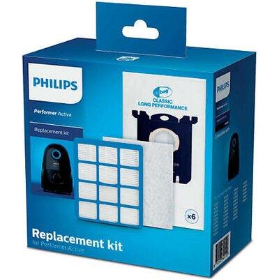 Комплект аксесоари за подмяна Performer Active: 6 x торбички за прах (s-bag® CLP), 1 x EPA12 филтър за изходящ въздух, 1 x трисл