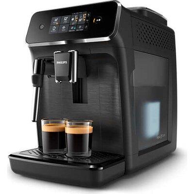 Philips Автоматична еспресо машина 2200 series 2 напитки, Приставка Classic за разпенване, Сензорен дисплей, цвят Черно