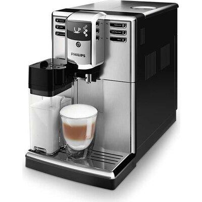 Philips Aвтоматична кафемашина Series 5000, 5 напитки, Вградена кана за мляко, Неръждаема стомана, AquaClean