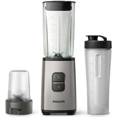 Philips Daily Collection Мини блендер, 350W, преносима бутилка On the Go, мини чопър