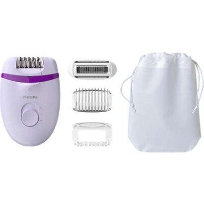 Philips Компактен епилатор с кабел Satinelle Essential - С opti-light, за крака, + 4 принадлежности