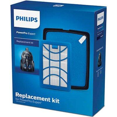 Philips Комплект аксесоари за подмяна 1 x изходящ филтър, 1 x миещ се входящ филтър