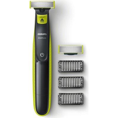 Philips OneBlade Уред за подстригване, оформяне, бръснене, За всякаква дължина на косъма, 3 гребена