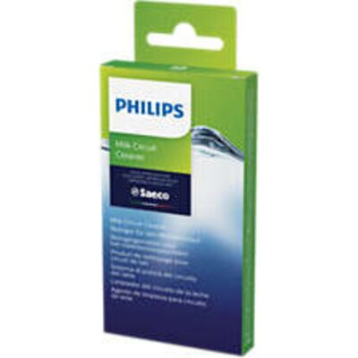Philips Сашета препарат за почистване на веригата за мляко, 6 използвания – използвайте ежемесечно, удължават живота на машината