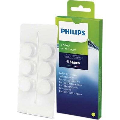 Philips Таблетки за обезмасляване за машини за еспресо Saeco за 6 използвания, удължават живота на машината